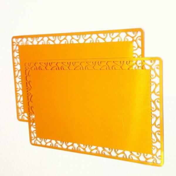 کارت ویزیت فلزی طرح دار کد 004
