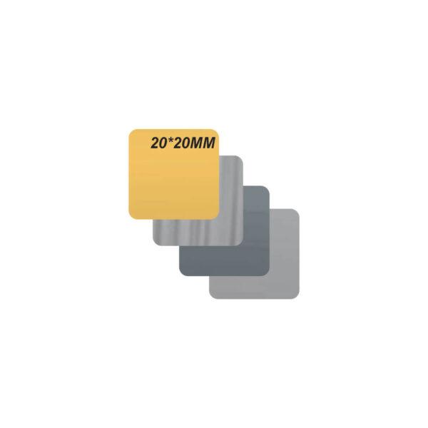 پلاک استیل خام کد 2020