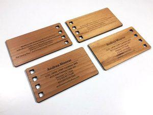 کارت ویزیت چیست؟ کارت ویزیت چوبی