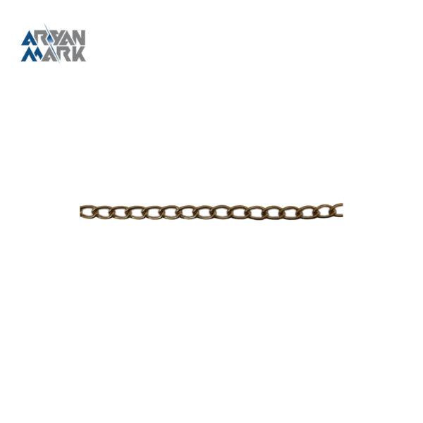 زنجیر آهنی طلایی براق کد 008
