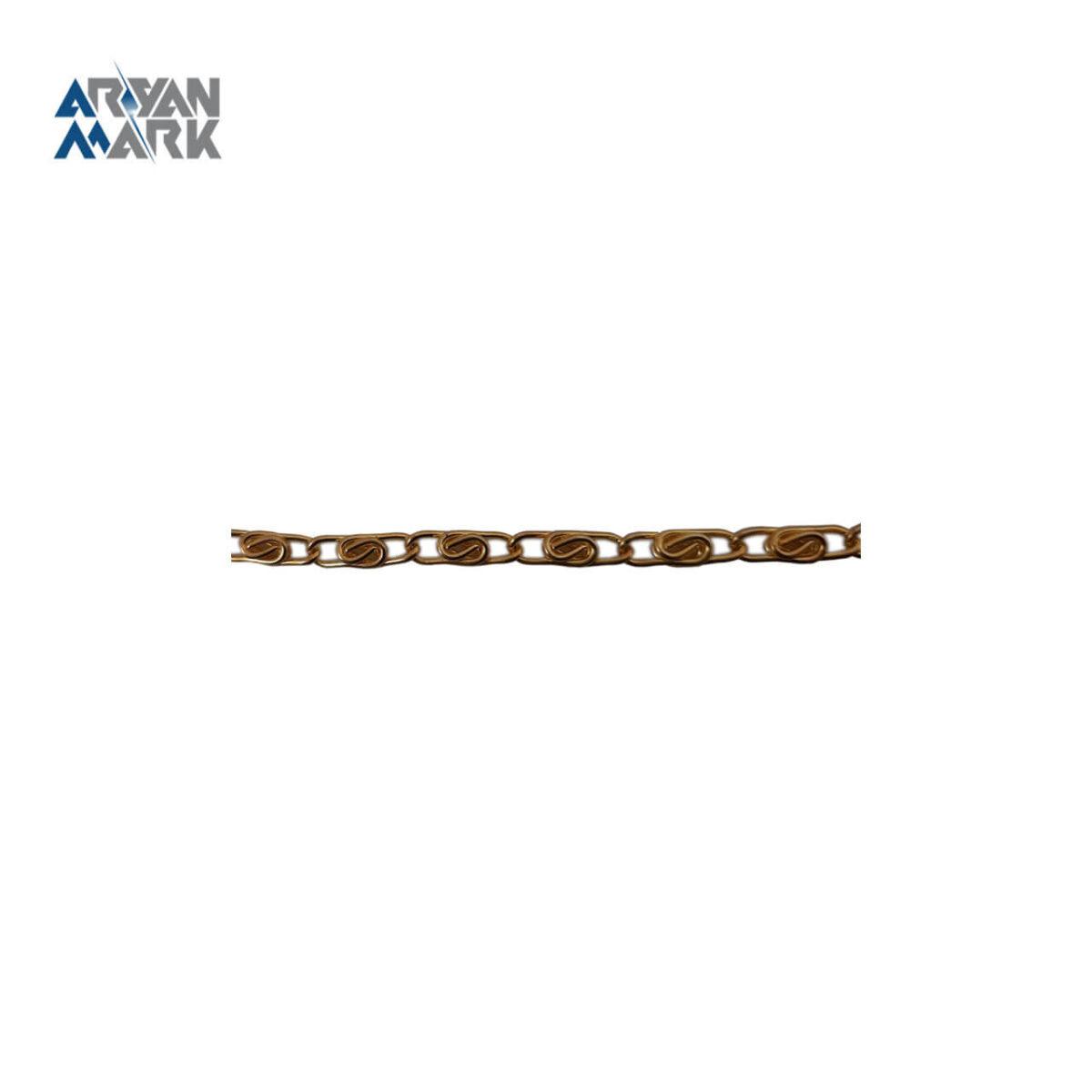 زنجیر آهنی طلایی براق کد 009