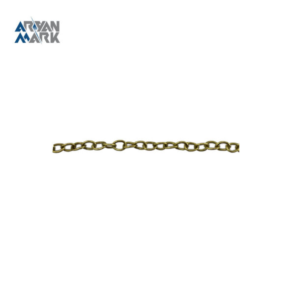 زنجیر برنجی طلایی کد 005