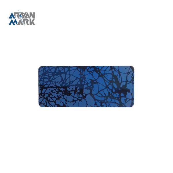 نشان سینه آبی طرح دار خام استیل مگنتی