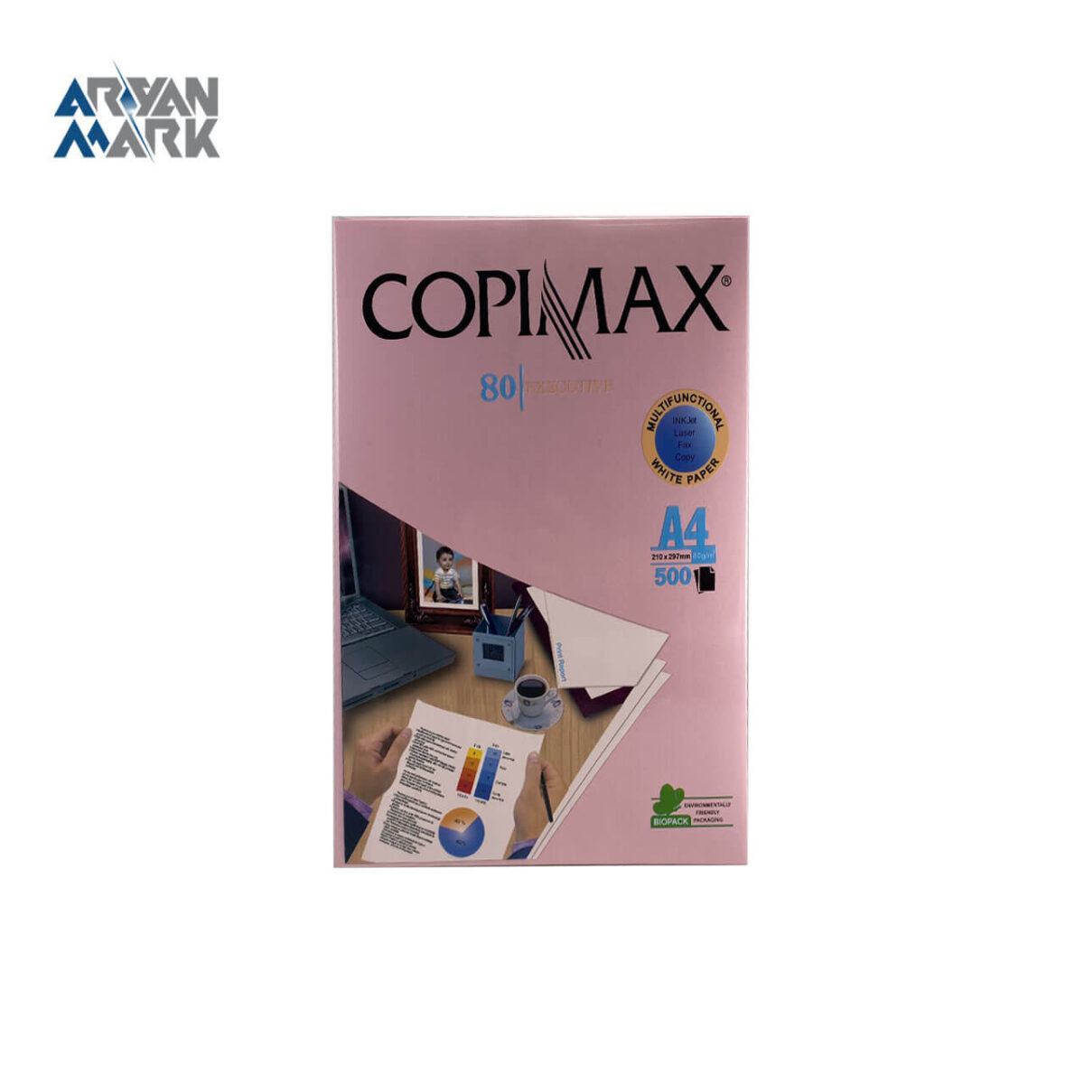 کاغذ A4 صورتی 500 عددی برند Copimax