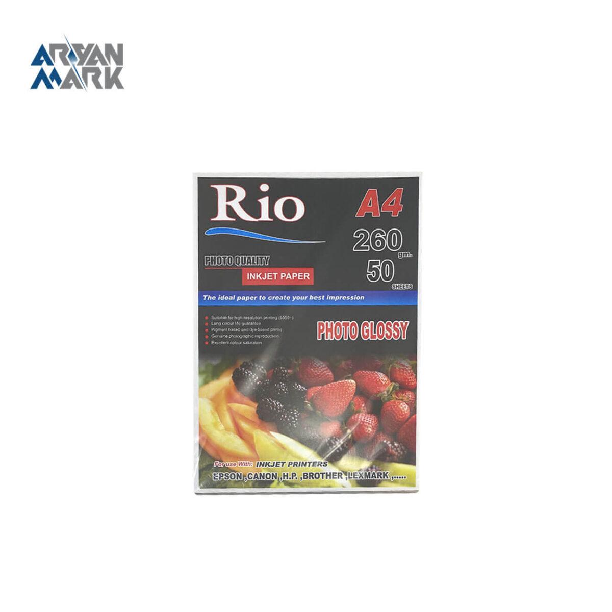 کاغذ عکاسی A6 سفید برند Rio